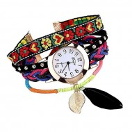La Amore Artificial Leather Analog Watch for Women - Multi-color