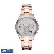 DKNY DKNY NY2453 Stainless Steel Chronograph Wrist Watch for Women - Rose Gold