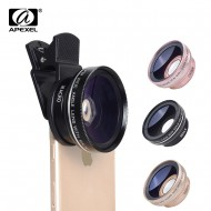 APEXEL Phone Lens kit 0.45x Super Wide Angle & 12.5x Super Macro Lens HD Camera Lentes