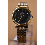 Sunstar Stainless Steel Analog Watch For Men- Silver & Gold Tone
