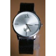 Calvin Klein Black Leather Chronograph Watch For Men