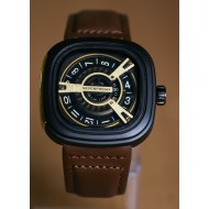 SEVENFRIDAY M-Series Brown Leather Automatic Watch for Men