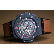 Hublot Big Bang Brown Silicon Rubber Belt Automatic Watch For Men
