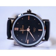 Sunstar Black Artificial Leather Analog Watch For Women