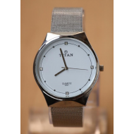 Titan Silver Stainless Steel Analog Watch For Men