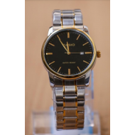 Casio Stainless Steel Analog Watch For Men- Silver & Gold Tone