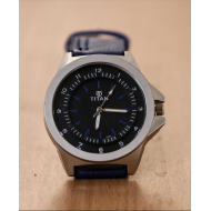 Titan Blue Leather Analog Watch For Men