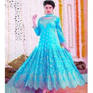 Indian Designer High Quality Embroidery Gown Replica SRF D.NO-1007B