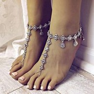 Asha's Collections Silver Zinc Alloy Anklet for Women
