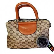 Ayaandeal Brown Artificial Leather Hand Bag for Women
