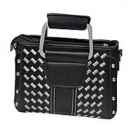 Ayaandeal Black Artificial Leather Hand Bag for Women