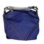 Ayaandeal Blue Artificial Leather Hand Bag for Women