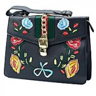 EMWEST Black PU Leather Hand Bag For Women
