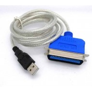 USB To Parallel Port Fast Adapter - Black