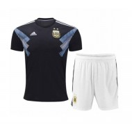 2018 Argentina Away World Cup Half-Slip Jersey With Pants (140-150 GSM) - Replica