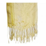 Golden Pashmina With Golden Border Hijab For Women