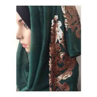 Cotton shimmery sequence hijab