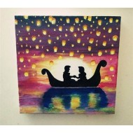 Tangled canvas painting