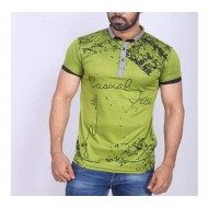 Chaines Half Sleeve Polo Shirt For Men