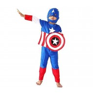 Captain America Dress For Kids - Multicolor