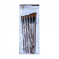 Shahin Stationary Painting Brush Set - Brown (6pcs)