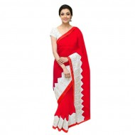 Red Georgette Saree for Women (P)