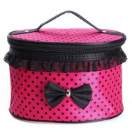 Bow Desing Round Cosmetic Bag