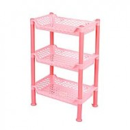 Master Kitchen 3 Layers Shelf Storage Rack Organizer - Pink
