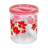 Npoly Plastic Printed Container - 7L - Transparent and Pink