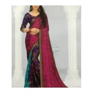 Pure bombastic silk gorget sarees with machining unsteady blousepies
