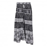 Xiros Collection Black and White Cotton Unstitched Palazzo for Women