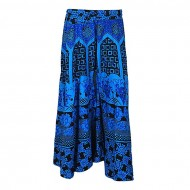 Xiros Collection Blue and Black Cotton Unstitched Palazzo for Women