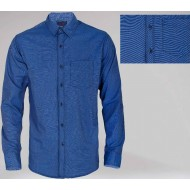 Solid Color Mensage Normal Cotton Shirt