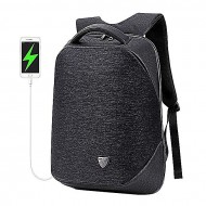 Cosmic Bags Black Fabric and Artificial Leather Backpack for Men
