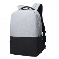 Cosmic Bags Black and Gray Fabric Backpack for Men