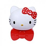 Life Style Shoe and Cosmetic Zone Hello Kitty Plastic Table Lamp - White and Red