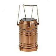 Crazy Mart Rechargeable Lantern Solar Power Light With Power Bank - Brown